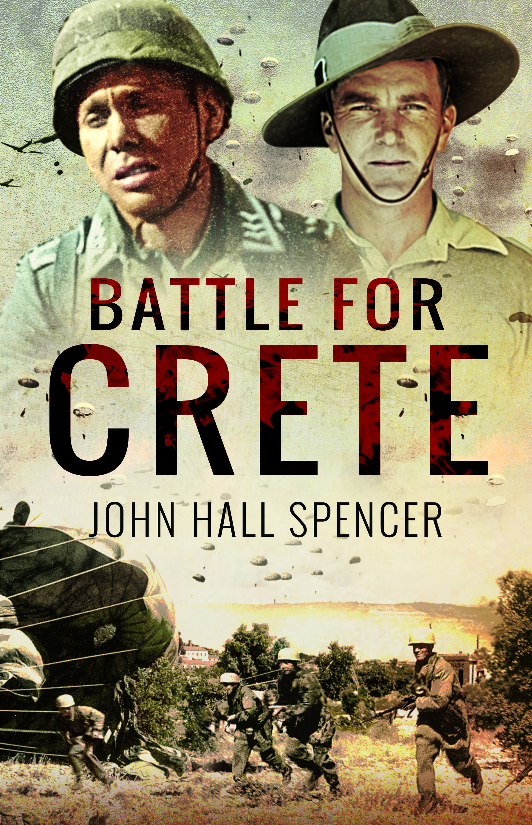 Battle For Crete by John Hall Spencer Front Cover